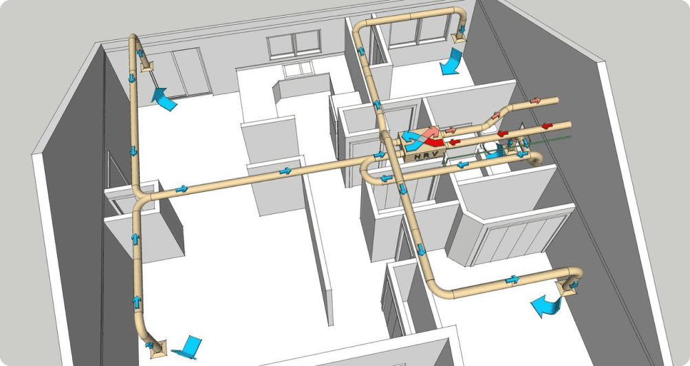Проект вентиляции детского сада